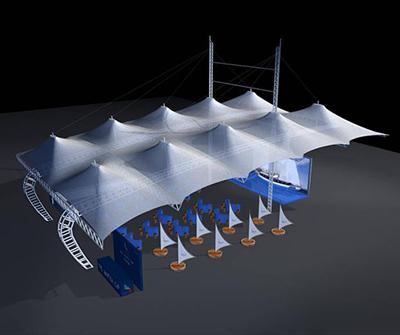 湖北游泳池膜结构