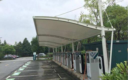 车棚充电桩膜结构