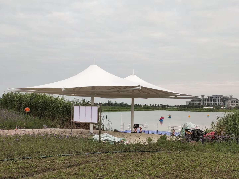 洪湖金湾花海景观棚